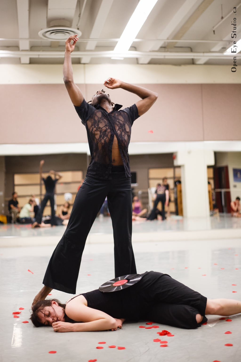 """At the Ballet Jörgen Studios Jose showed his piece """"Last Encounter"""" during the Summer Dance Academy with dancers Natayu Nevule & Corrie Sakaluk."""